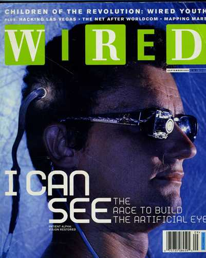 Wired magazine aug-2002 front cover featuring Jens' head